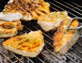 Grill-Roasted BBQ fish